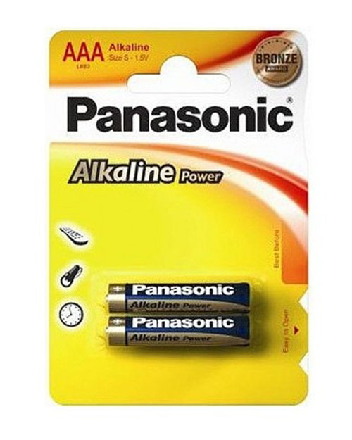 Батарейка щелочная PANASONIC Alkaline Power ААА/2B