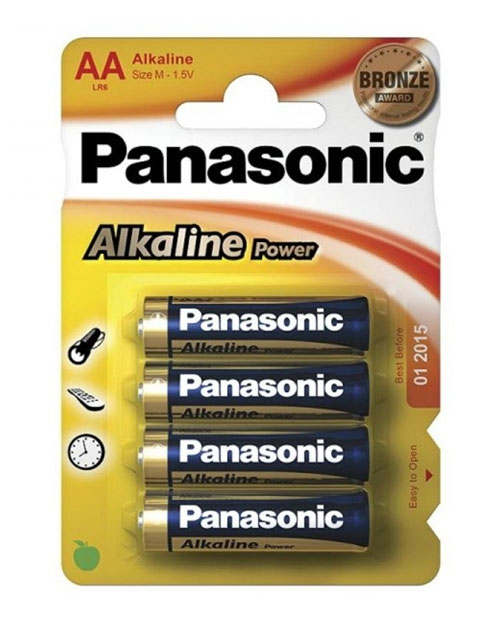 Батарейка щелочная PANASONIC Alkaline Power AA/4B