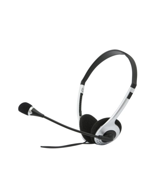 SVEN Headphones black-silver  microphone AP-010MV