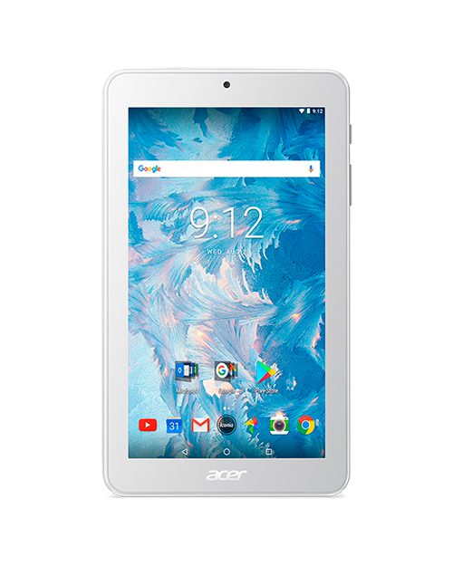 Планшет Acer Iconia One 7'' Wi-Fi/(1024x600)/Quad-core MT8167(1,3Ghz)/1Gb/16Gb/0.3MP+2MP/Android 7.0
