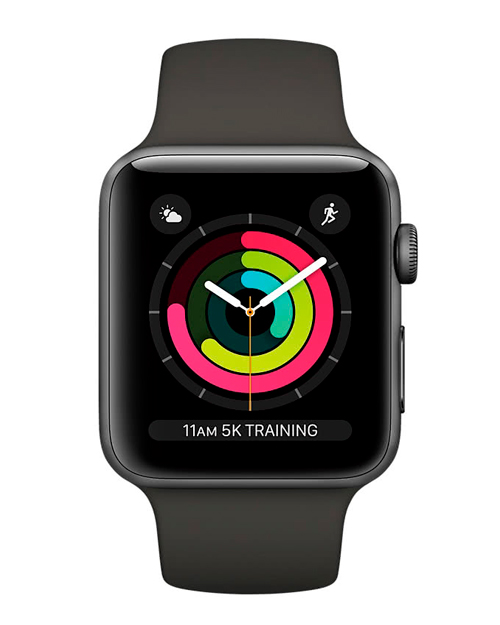 Apple Watch Series 3 GPS, 38mm Space Grey Aluminium Grey Sport Band MR352GK/A