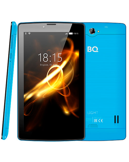 "Планшет BQ-7083G Light Blue 3G (7"", 1024*600, TN, 4*1.0Ghz,  1+8Гб, GPS, 7.0)"