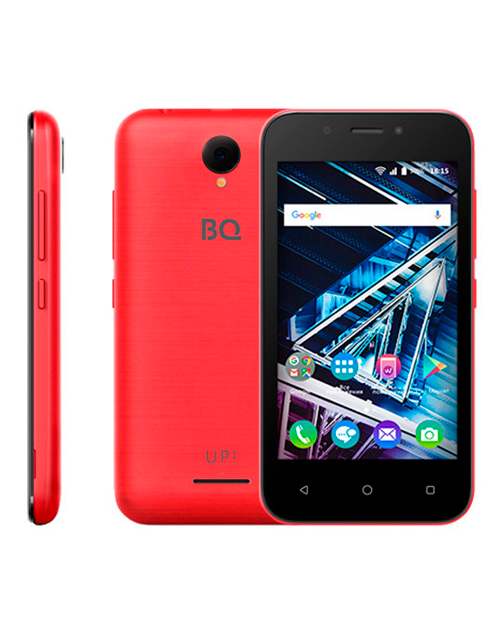 "Смартфон BQ-4028 UP! Red 4""/800х480WVGA/Spreadtrum 7731E,4ядра/512Mb+8Gb/5+2MP/1300 мАч/3G"